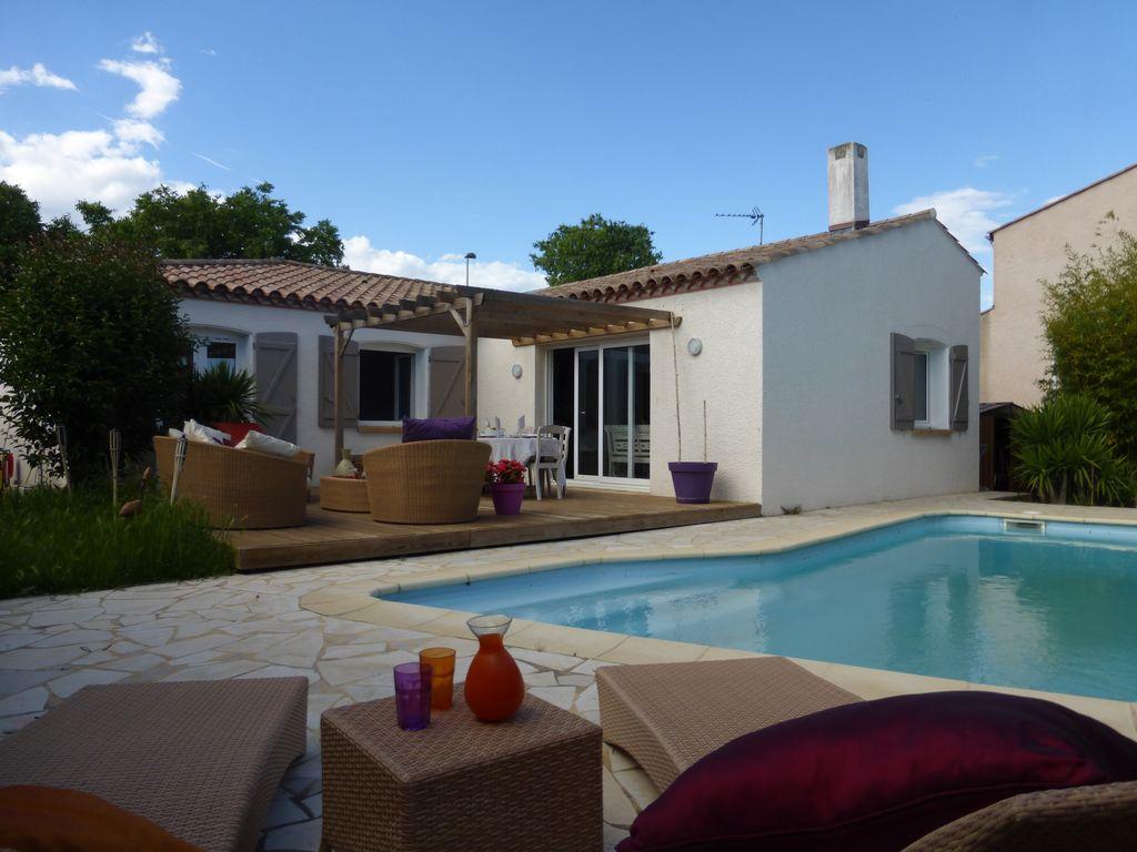 Maison 140m2 avec piscine- Fréjorgues